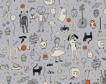 Lil' Monsters by Cotton + Steel - Party Grey - Cotton Woven Fabric