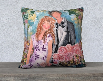 Fine Art Pillow: The Story of Us