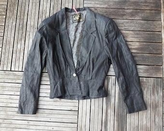 genuine leather jacket/blazer