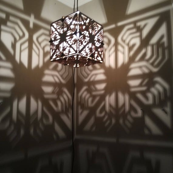 CUBE Lamp - Hanging Ceiling Pendant Shadow