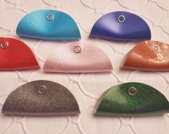 The Vinyl Cord Keeper: 2 per order in Beautiful Sparkle Colors!