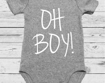 OH BOY! - Gender Announcement - Gender Reveal - Gender Onesie - Boy Onesie - Baby Reveal - Baby Boy - Baby Boy Onesie - Baby Boy Outfit