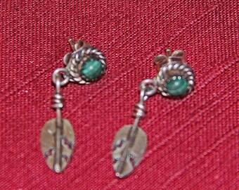 Sterling Silver dangling earrings pierce