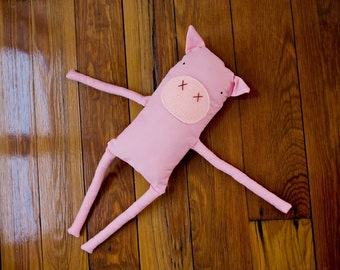 Soft toy pink pig stuffed animal