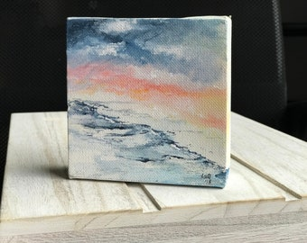 4x4 Mini Watercolor Beach Painting