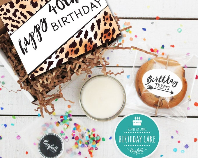 Mini Happy 40th Birthday Gift Box - Milestone Birthday | Send a Birthday Gift | Birthday in a Box | Coworker Gift | 40th Birthday Card