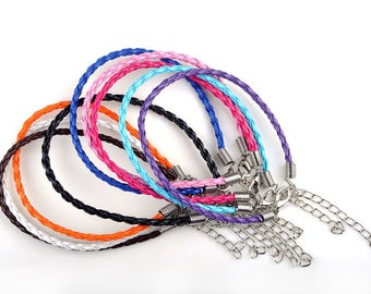 1x Braided Bracelet with Lobster Clasp - VARIOUS Colours Available