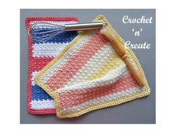 Multi Color Dishcloth Crochet Pattern (DOWNLOAD) CNC63