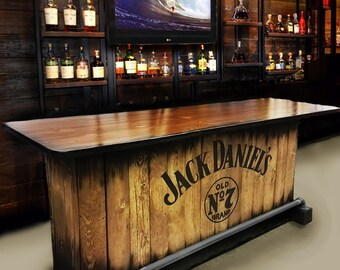 Home Bar Custom Hand Built Rustic Whiskey, Pub, Man Cave, Barn U