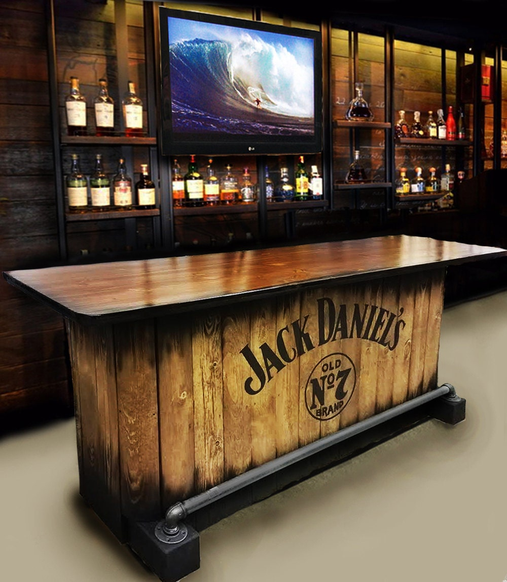 Home bar custom hand built rustic whiskey pub man cave barn for Modelos de barras de bar