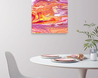 Abstract Art Painting Poster Wall Art Dorm Room Decor Home Decor Gift for Teen Gift for College Student Fine Art Poster Colorful Print Art