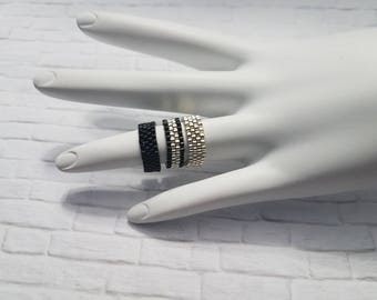 Stackable Rings, Dainty Ring, Custom Jewelry, Dainty Jewelry, Stacking Ring, Rings, Silver Beaded Ring, Statement Ring, Handmade Ring