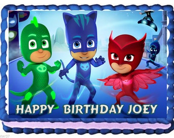 PJ Masks Cake Party Catboy Cake Owlette Gekko  Cake Topper with FREE Personalization