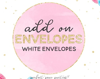 5 1/4 x 7 1/4 White Envelopes | Envelopes Add On