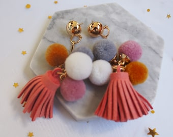 Go Pom Pom Earrings