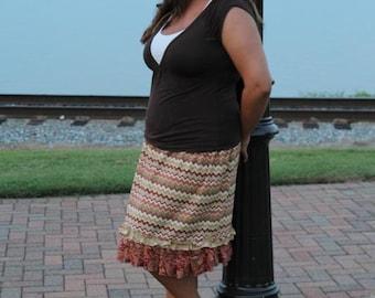 Izzy's Women's Plus Double Ruffle Skirt PDF Pattern size 1X to 5X