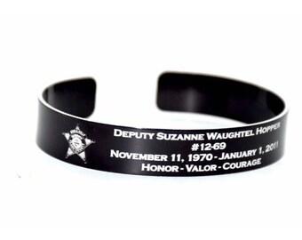 Police Offer Memorial Bracelet / First Responder / Sheriff Memorial Bracelet / Honor the Fallen / Officer Memorial / Police KIA / Deputy KIA