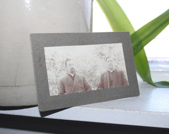 Antique 1800s Cabinet Card Photograph 2 Victorian Brothers
