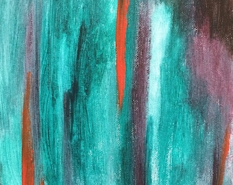 Abstract Painting, Original Painting, Original Art, Abstract Expressionism, Acrylic Painting, Modern Art, Teal, Orange Acrylic Paints