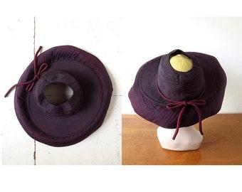1940s Wide Brim Hat | Open Crown Hat | 40s Hat | Size 22