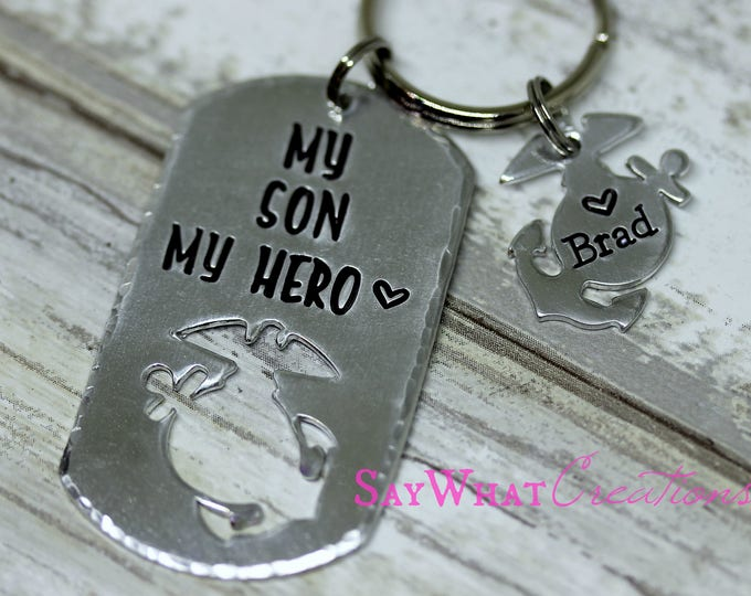 My Son My Hero Key Chain for Military Moms and Dads