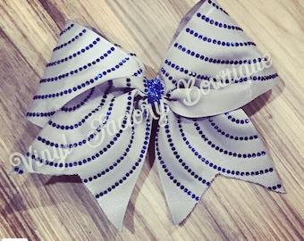 circle swirl rhinestone cheer bow
