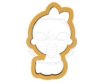 Baby Girl Sitting Cookie Cutter