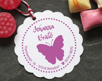 Stamp Butterfly individually with your name