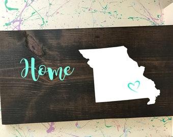 Missouri Home Plaque