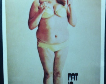 Fat Is Beautiful poster - vintage 1960s poster - mint condition