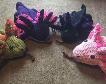 Hand made Axolotl plush
