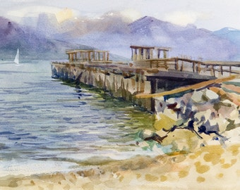 Spanish Banks Beach Vancouver - Watercolor Painting