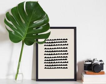 A4 Art Print • Abstract • Hand Drawn • Minimal • Scandinavian • Wall Art • AM MEER