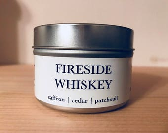 FIRESIDE WHISKEY // 4oz // natural soy candle // hand-poured // small batch