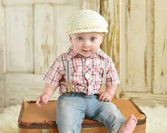 9 Sizes Boy Hat Baby Hat Toddler Hat Baby Boy Hat Toddler Boy Hat Irish Wool Donegal Cap Donegal Hat Cream Flat Cap Driving Cap Newsboy