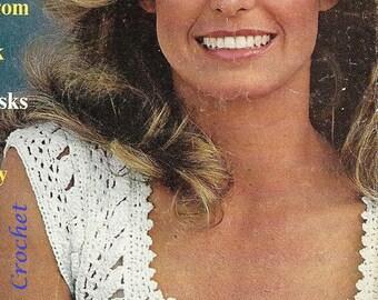 Crochet Farrell Fawcett Top PATTERN, Women's Summer Sleeveless Vintage Picot Edge White Blouse Crochet Pattern - PDF Download