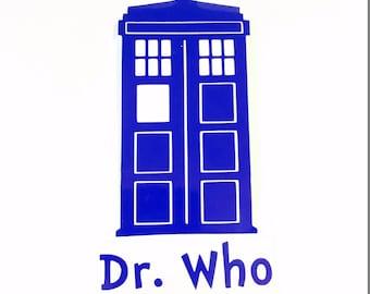 Dr Who's Tardis Vinyl Decal