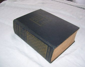 Webster's Encyclopedic Dictionary; A Library of Essential Knowledge HC 1942 Vintage