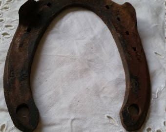 Antique horseshoe 1925 Well worn well rusted lucky charm old Horseshoe