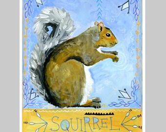 Animal Totem Print - Squirrel