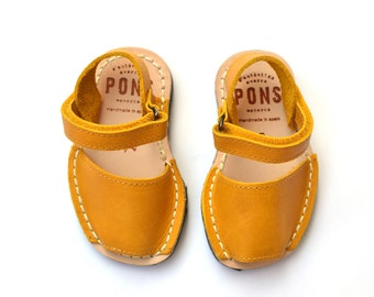 Yellow Slingback kids sandals
