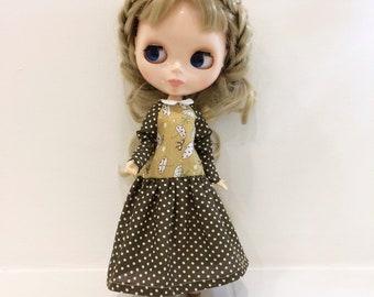 dress for Blythe, dress for Blythe doll, cotton dress