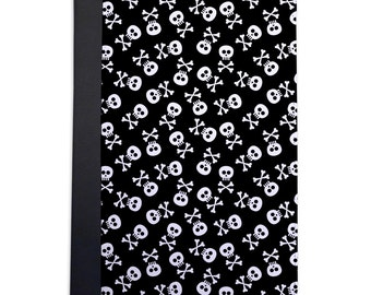 Funky Little Skull & Crossbones Pattern Folio Case For The iPad Mini 1, 2, 3 and 4 Only