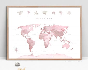World map decor etsy world gumiabroncs Image collections