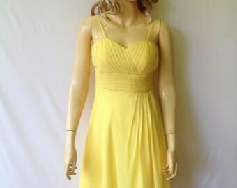 Yellow Bridesmaid Dress.Evening Dress