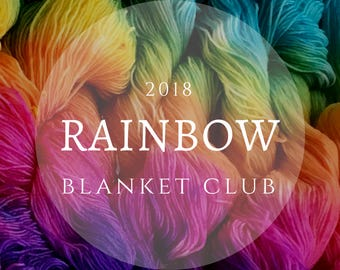 RAINBOW BLANKET YARNCLUB - Subscription yarn club box all about colour, available in a variety of sizes