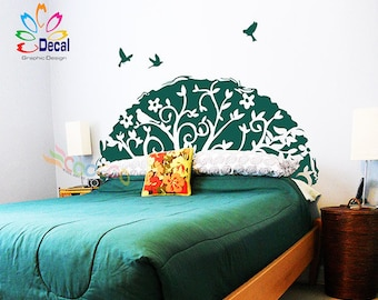 Headboard Decal Tree Branches Wall Sticker King, Queen, Full, Twin, DC063