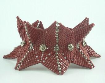 Flight of the Butterflies beadweaving cuff bracelet tutorial: Instant Downloadable Pattern PDF File