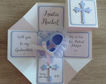 Will You Be My Godmother/Father/Parent? Cross Exploding Box Card