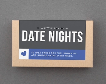 "First Anniversary Gift for Her, Woman, Wife, Girlfriend. 1st or One Year Anniversary Gift. Romantic Paper Gift. ""Date Night Ideas"" (L5DAT)"